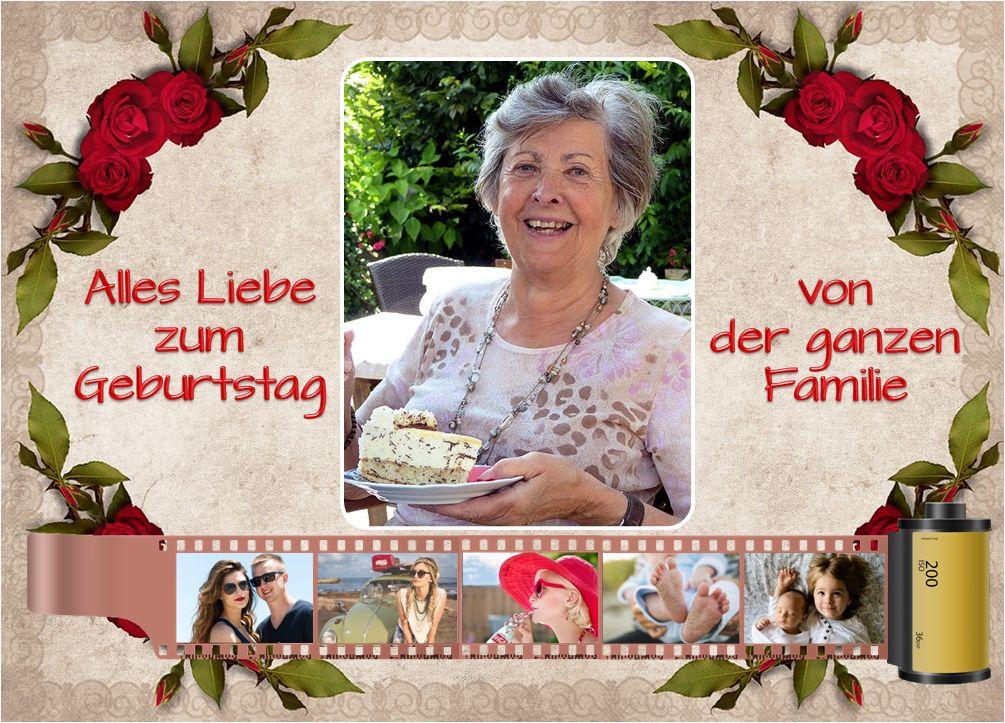 Für einen Blechkuchen eine schöne Gelegenheit zum Gratulieren. Auch hier mit kleinen Filmbildern aus dem bisherigen Lebensweg.