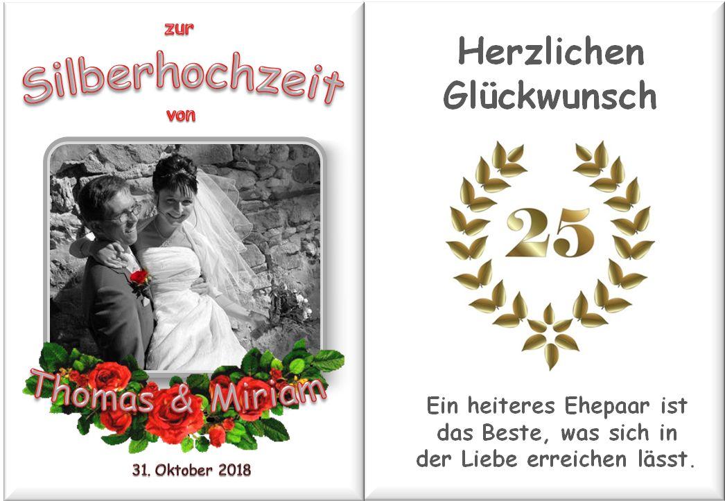 Ein Beispiel zur Silbernen Hochzeit