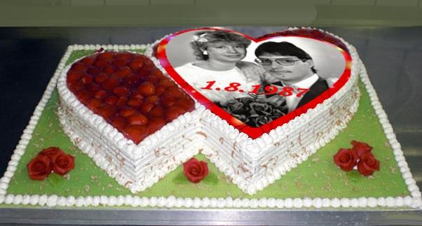 Herz-Torte zum Hochzeitstg