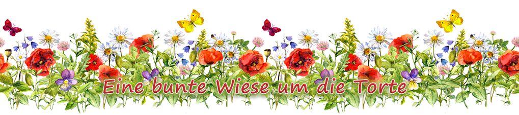 Ein buntes Band mit frischen Blumen - was kann es Erfrischenderes geben? einfach um die Torte legen und die Torte wird mit einfachen Mitteln zum Hingucker